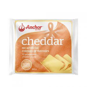 ANCHOR CHEDDAR SLICED 250G